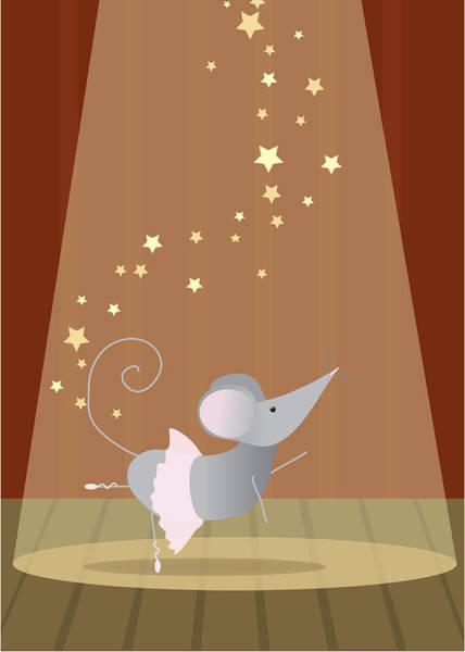 Dance Digital Art - Ballet Mouse Nursery Art Girl by Christy Beckwith