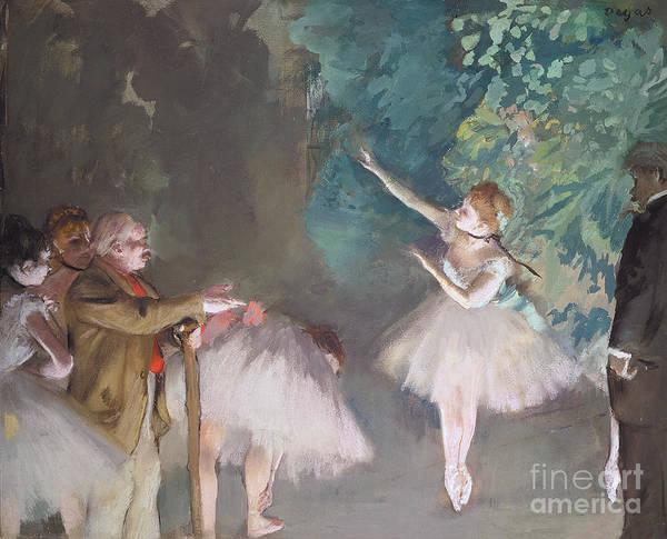 Degas Painting - Ballet Rehearsal by Edgar Degas