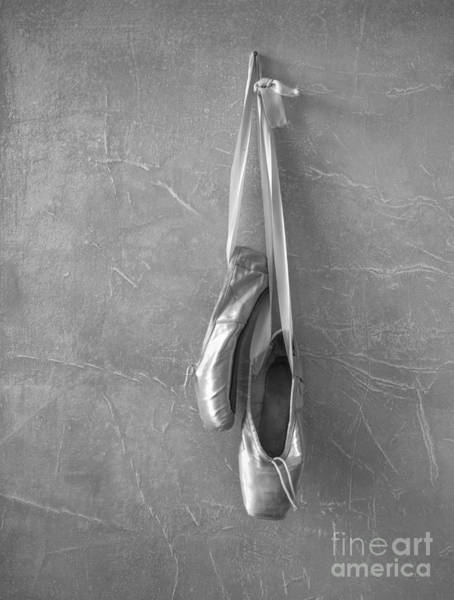 Pointe Shoes Wall Art - Photograph - Ballet Shoes In Black And White by Diane Diederich