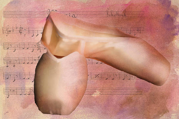 Digital Art - Ballet Slippers At Rest by Paulette B Wright