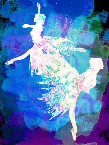 Wall Art - Painting - Ballet Watercolor 2 by Naxart Studio