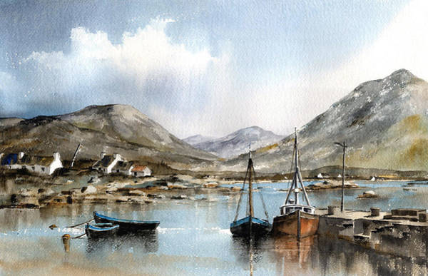 Painting - Ballinakill Harbour Galway by Val Byrne