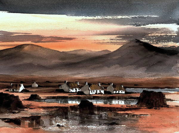 Painting - Connemara Sunset Galway by Val Byrne