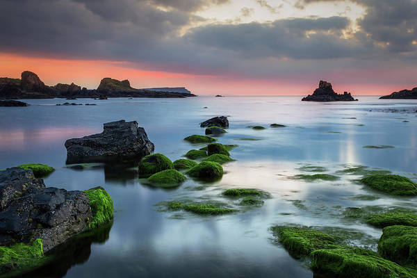 County Antrim Wall Art - Photograph - Ballintoy After Sunset by Northern Irish Photography