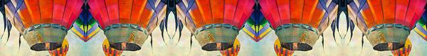 Festive Digital Art - Balloon Banner by Betsy Knapp