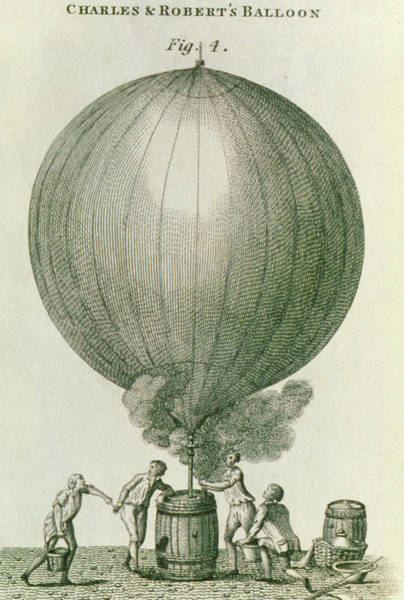 Filling Photograph - Balloon Being Filled With Hydrogen by George Bernard/science Photo Library