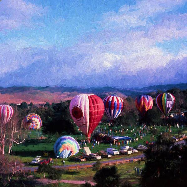 Balloon Festival Digital Art - Balloon Fest  by Cathy Anderson