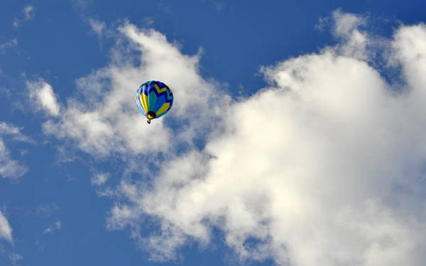 Photograph - Balloon In The Clouds by AJ  Schibig