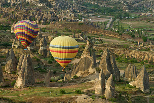 Cappadocia Photograph - Ballooning In Cappadocia by Carol Polich Photo Workshops