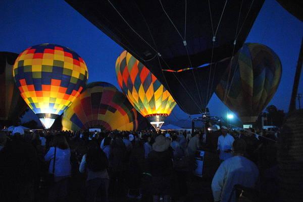 Balloon Festival Digital Art - Balloons In The Crowd by Ken Waters