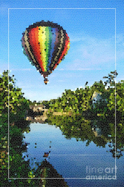 Photograph - Balloons Over Quechee Vermont Stain Glass by Edward Fielding