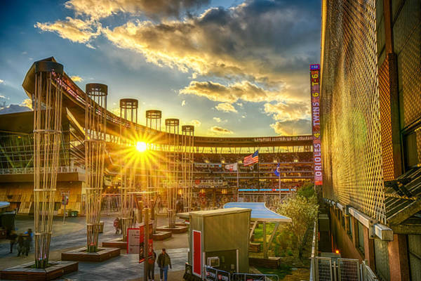 Minneapolis Photograph - Ballpark Sunset At Target Field by Mark Goodman