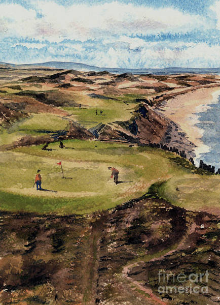 Painting - Kerry  Ballybunion G C by Val Byrne