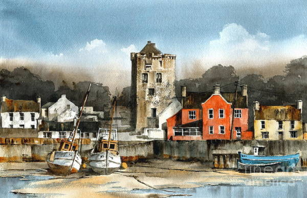 Painting - Ballyhack Harbour  Wexford by Val Byrne