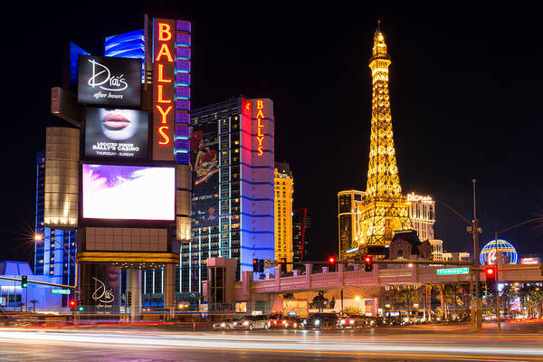 Photograph - Ballys And Paris Hotels Las Vegas by Clint Buhler