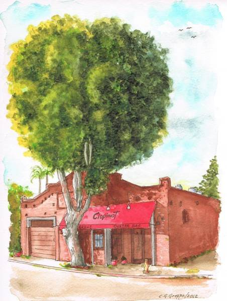 Oyster Bar Wall Art - Painting - Baloon Tree In Ciopinot Oyster Bar, San Luis Obispo, California by Carlos G Groppa