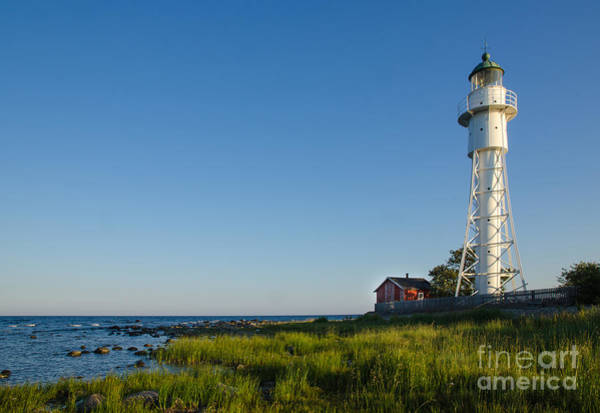 Rights Managed Images Wall Art - Photograph - Baltic Sea Lighthouse by Kennerth and Birgitta Kullman