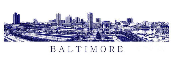 Photograph - Baltimore Blueprint by Olivier Le Queinec