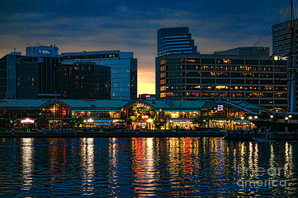 Photograph - Baltimore Harborplace Light Street Pavilion by Olivier Le Queinec