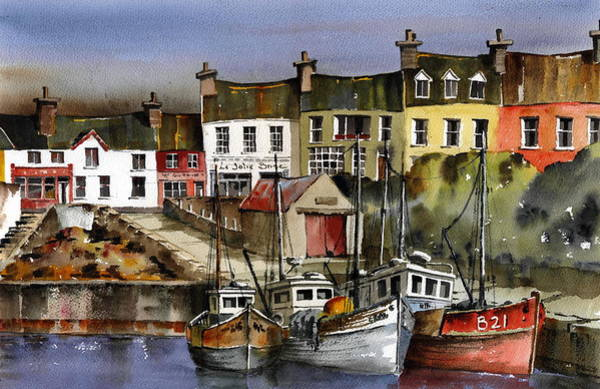 Painting - Baltimore Harbour Technicolour by Val Byrne