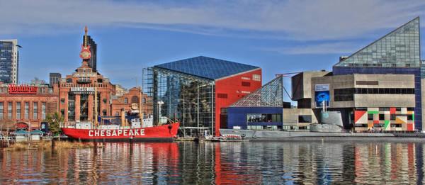 National Aquarium Photograph - Baltimore Inner Harbor by Lori Deiter