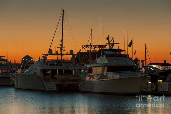 Photograph - Baltimore Inner Harbor Marina At Dawn I by Clarence Holmes