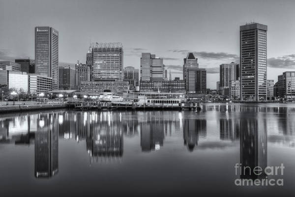 Patapsco Photograph - Baltimore Inner Harbor Skyline At Dawn IIi by Clarence Holmes