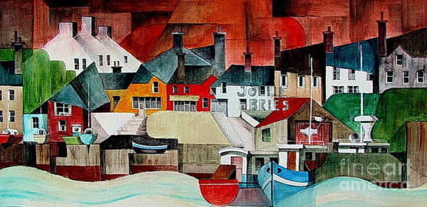 Mixed Media - Baltimore Panorama West Cork by Val Byrne
