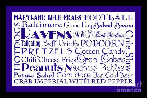 Digital Art - Baltimore Ravens Game Day Food 2 by Andee Design