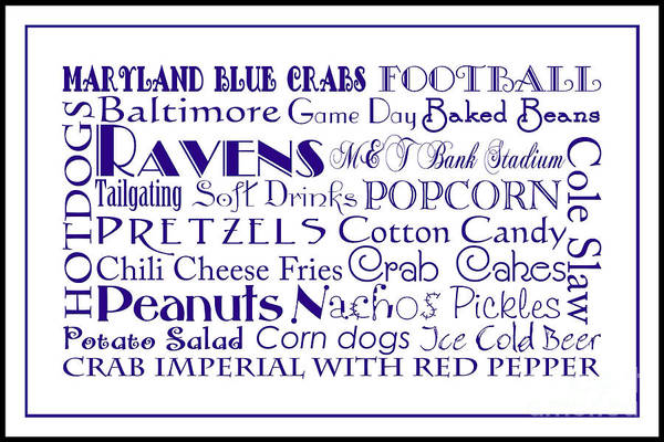 Digital Art - Baltimore Ravens Game Day Food 3 by Andee Design