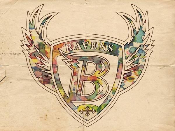 Painting - Baltimore Ravens Logo Vintage by Florian Rodarte