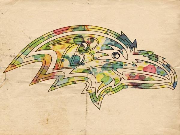 Painting - Baltimore Ravens Poster Vintage by Florian Rodarte