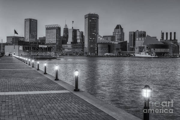 Patapsco Photograph - Baltimore Skyline At Twilight II by Clarence Holmes