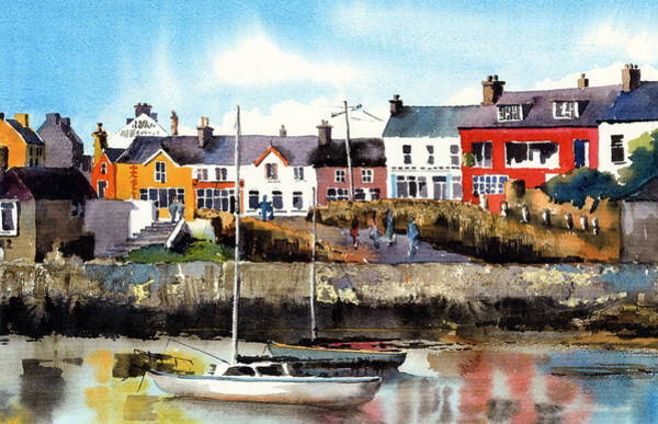 Painting - Baltimore  Yachts West Cork by Val Byrne