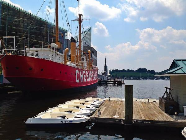 Photograph - Baltimore's Inner Harbor by Chris Montcalmo