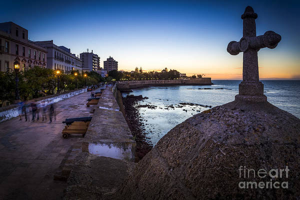 Photograph - Baluarte De La Candelaria From Point Saint Philip Cadiz Spain by Pablo Avanzini