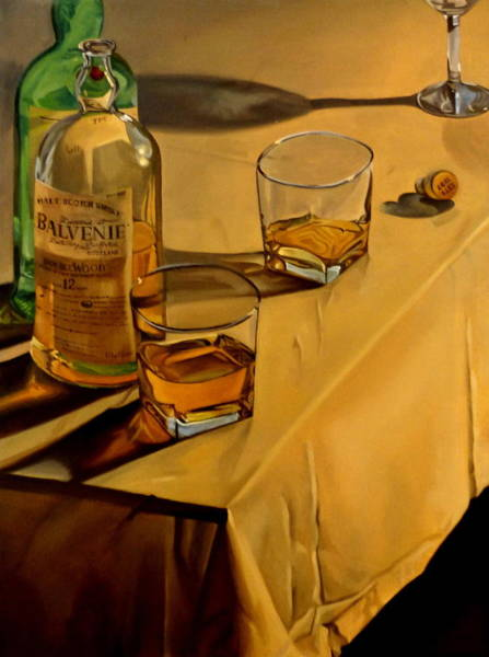 Scotch Wall Art - Painting - Balvenie Scotch by Rick Liebenow