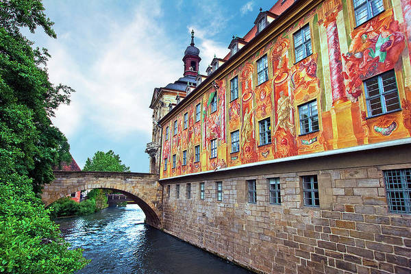 Rathaus Photograph - Bamberg, Germany , The Town Hall (altes by Miva Stock