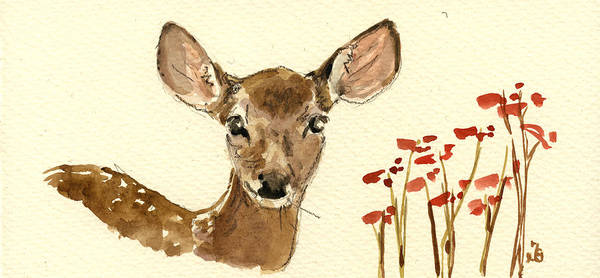Hunt Wall Art - Painting - Bambi by Juan  Bosco
