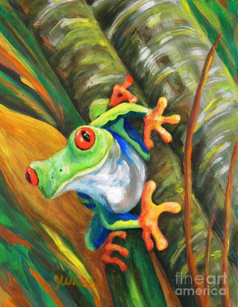Wall Art - Painting - Bamboo Buddy by JoAnn Wheeler