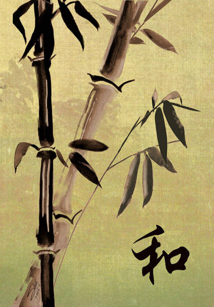 Bamboo Painting - Bamboo Harmony by M Spadecaller