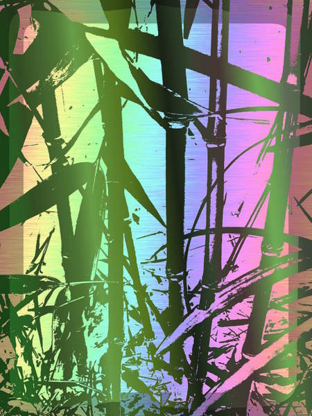 Manipulated Digital Art - Bamboo Study 8 by Tim Allen