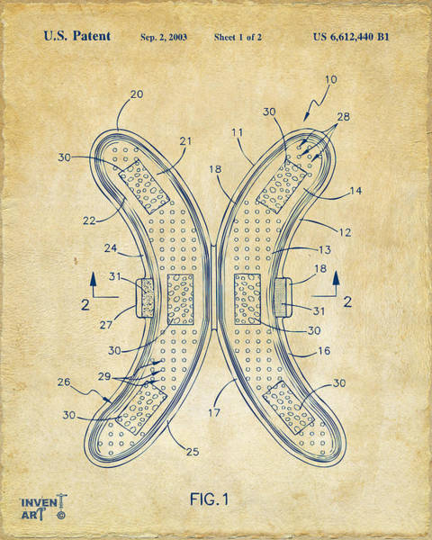 Wall Art - Digital Art - Banana Protection Device Patent Vintage by Nikki Marie Smith