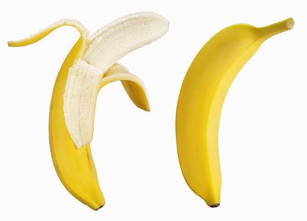 Bananas On White Art Print by Lew Robertson