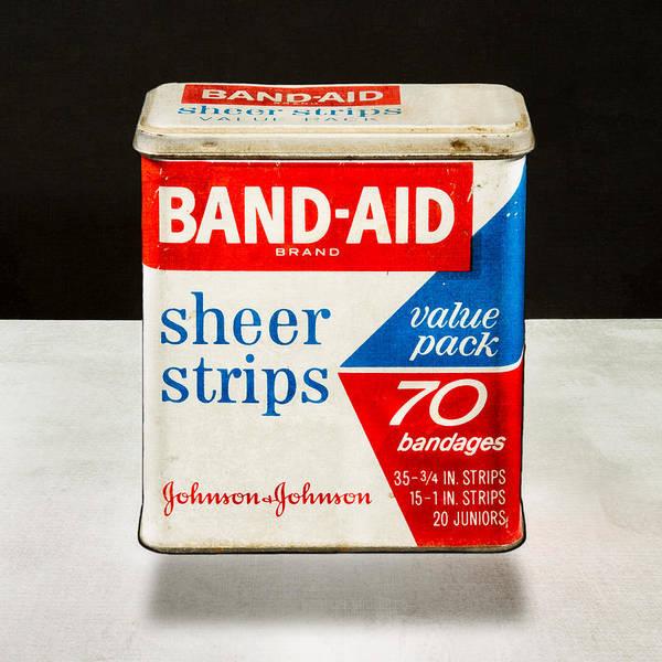 Tin Box Photograph - Band-aid Box by Yo Pedro