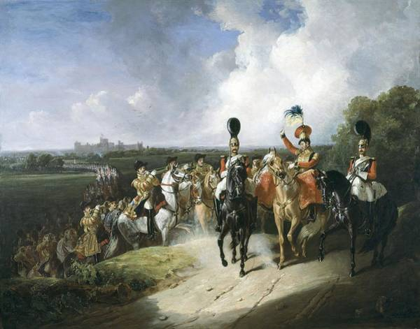 Trumpeter Painting - Band Of The Second Regiment Of Life by John Frederick Tayler