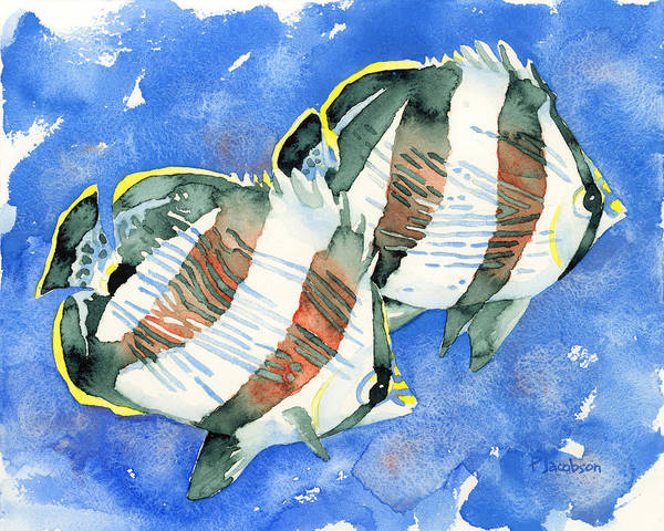 Painting - Banded Butterflyfish by Pauline Walsh Jacobson