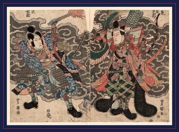 Wall Art - Drawing - Bando Mitsugoro To Bando Minosuke by Utagawa, Toyokuni (1769-1825), Japanese