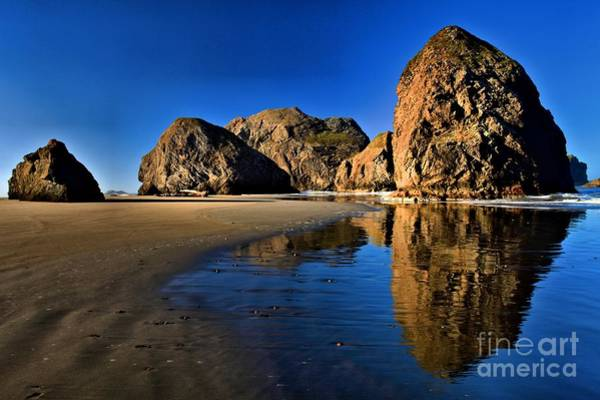 Photograph - Bandon Low Tide Reflections by Adam Jewell