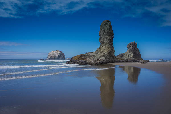 Photograph - Bandon Oregon Sea Stacks by Carrie Cole